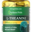 Puritan's Pride L-Theanine 200 mg Per Serving 60 Rapid Release Capsules
