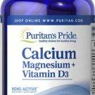 Puritan's Pride Calcium Magnesium plus Vitamin D 100 Rapid Release Capsules