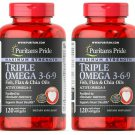 Puritan's Pride Maximum Strength Triple Omega 3-6-9 Fish Flax & Chia Oils 240 sg