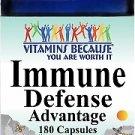 Vitamins Because Immune Defense Advantage 180 Capsules