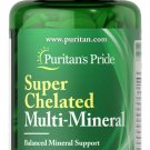 Puritan's Pride Super Chelated Multi Mineral with Zinc 100 Coated Caplets