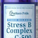 Puritan's Pride Stress Vitamin B-Complex with C-500 Timed Release 60 Caplets