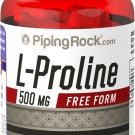 Piping Rock L-Proline 500 mg (Free Form) 120 Quick Release Capsules