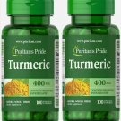 Puritans Pride Turmeric 400 mg Antioxidant 2 Pack 200 Rapid Release Capsules