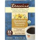 Teeccino Roasted Herbal Tea - Dandelion Turmeric 10 Bag(S).