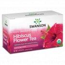Swanson 100% Organic Hibiscus Flower Tea 20 Sachets.