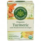 Traditional Medicinals Organic Turmeric with Meadowsweet & Ginger Tea 16 Bag(S).