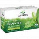 Swanson 100% Organic Green Tea 20 Sachets.