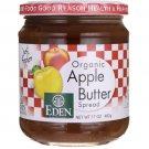 Eden Foods Apple Butter Spread Organic 17 oz Jar.