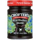 Crofter's Premium Spread Wild Blueberry 10 oz Jar.