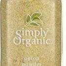 Simply Organic Onion Powder 3.00 oz Jar.