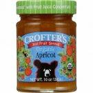 Crofter's Just Fruit Spread Organic Apricot 10 oz Jar.