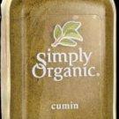 Simply Organic Cumin 2.31 oz Jar.