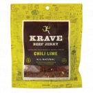 Krave All-Natural Beef Jerky - Chili Lime 2.7 oz Bag(S).