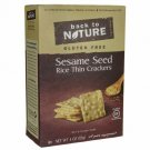 Back To Nature Sesame Seed Rice Thin Crackers 4 oz Box.