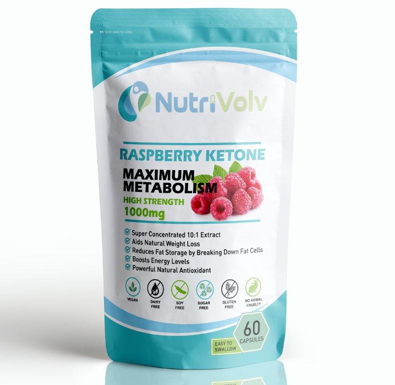 Raspberry Ketone 1000mg Weight Loss Slimming Keto Diet Fat Burn Metabolism Boost