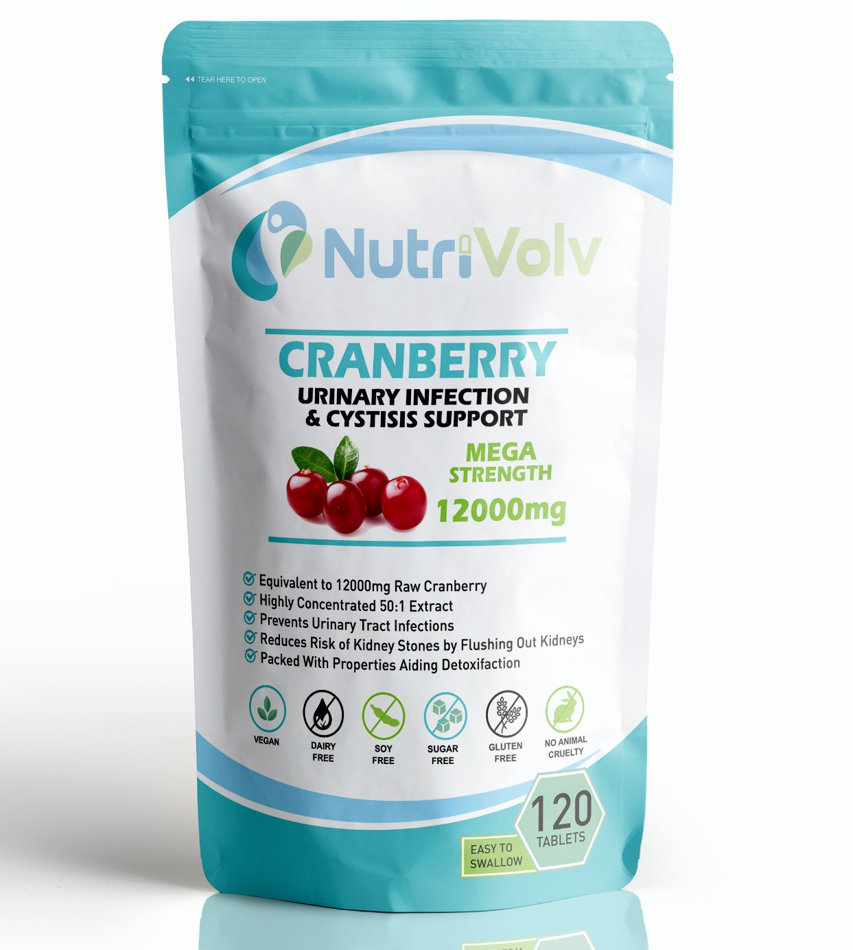 Cranberry Juice 12000mg - Cystitis, Urinary Bladder, Liver, UTI Support