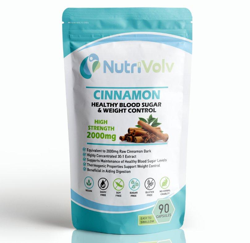 Cinnamon 2000mg - 90 Capsules - Blood Sugar Weight Control Anti Inflammatory
