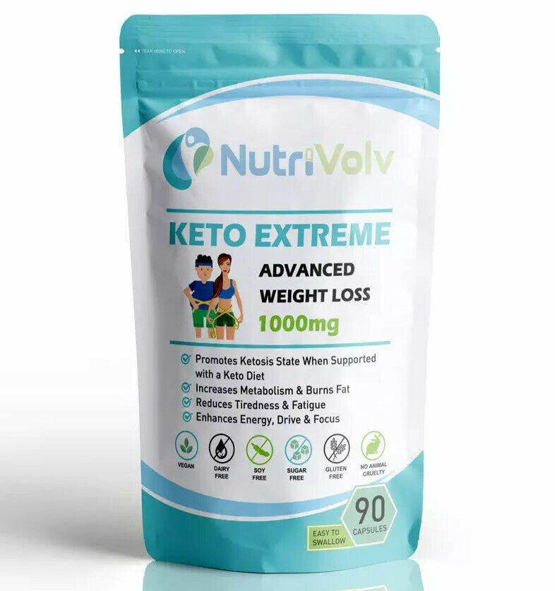 Keto Extreme - 90 Capsules Strongest Keto Metabolic Ketosis & Green Tea Extract