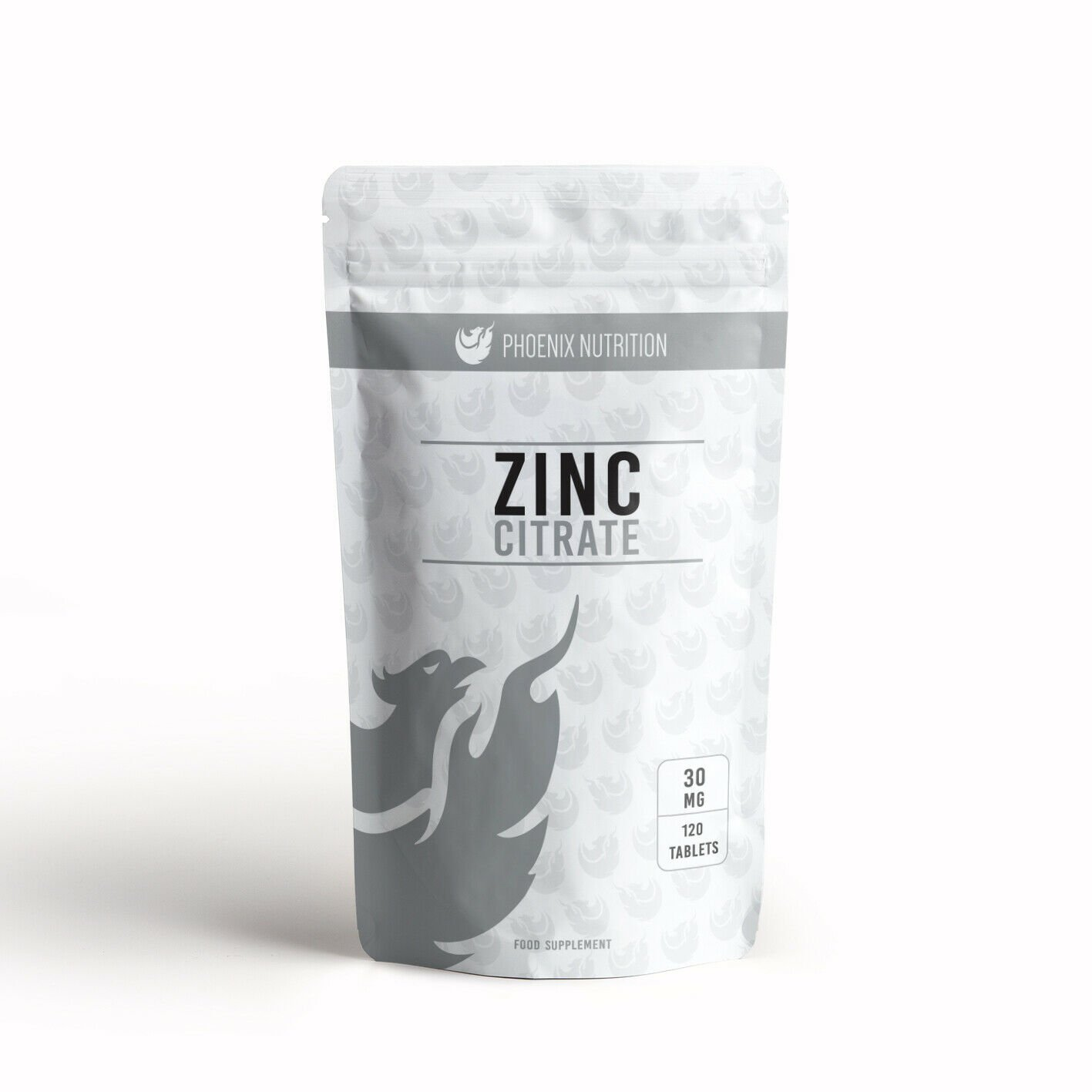 Zinc 30mg x 360 Tablets | Triple Strength, 300% RDA from 100mg Zinc Citrate