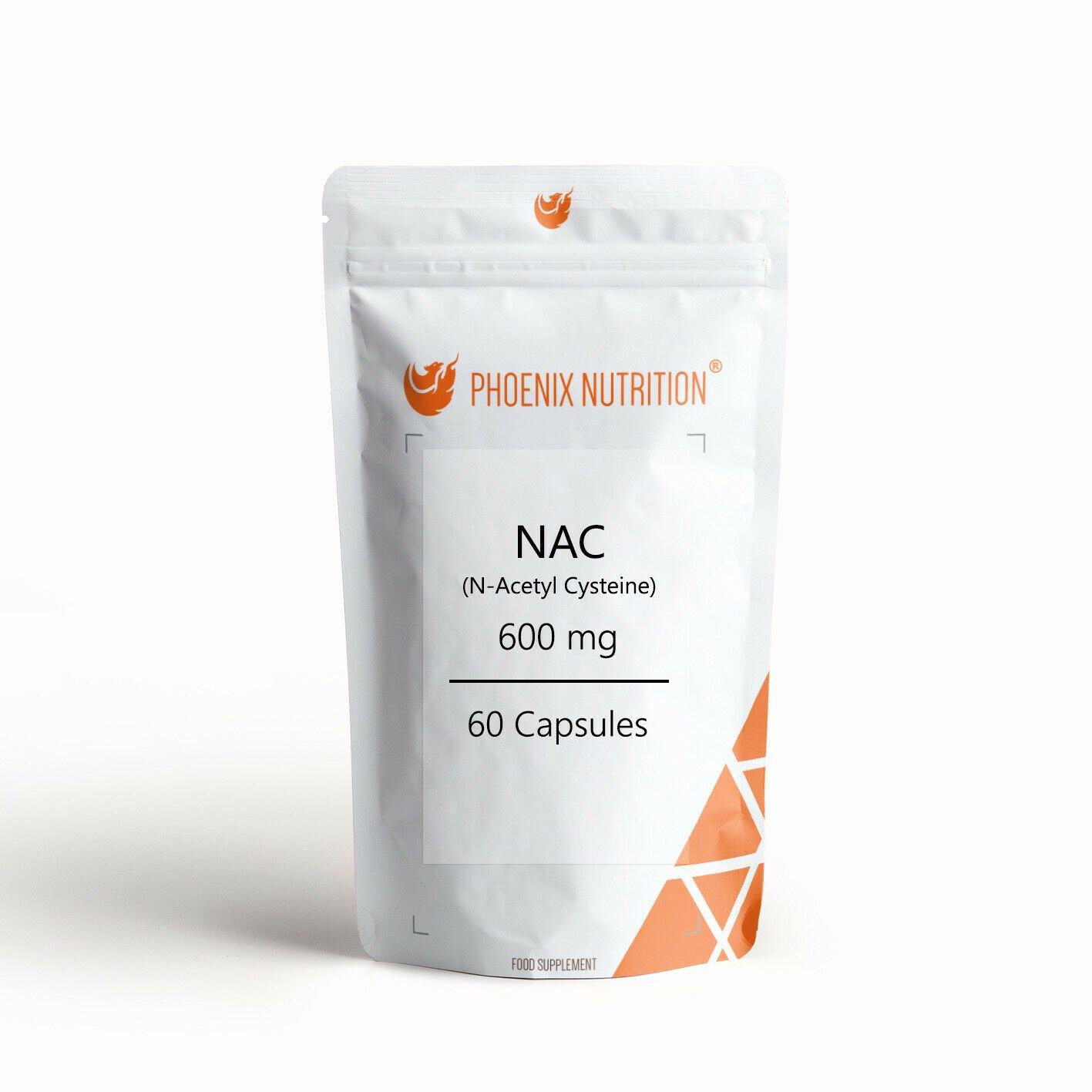 N-Acetyl L-Cysteine (NAC) x 60 Capsules | 600mg | Glutathione, Liver Health