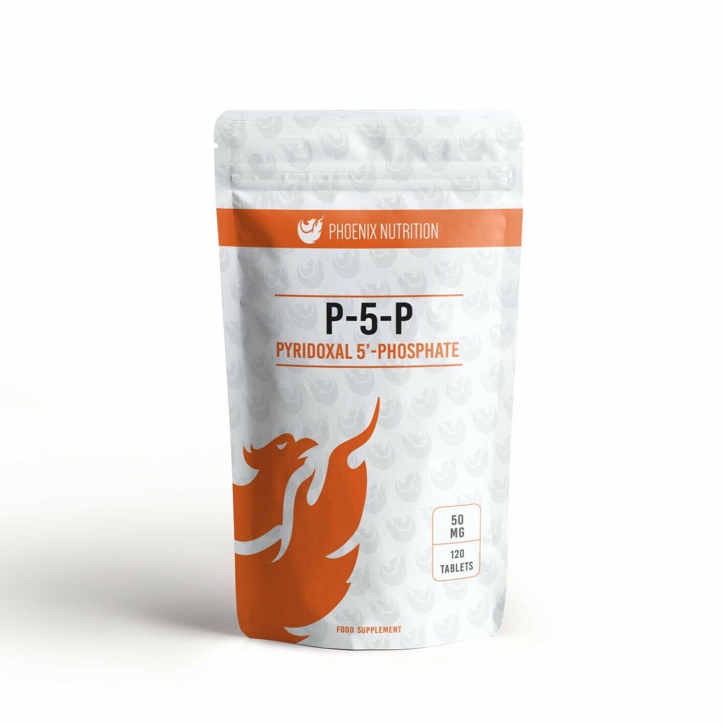 P-5-P 50mg x 120 Tablets - Pyridoxal 5' Phosphate, Coenzyme Vitamin B6 P5P