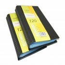 Leather 120 Cards Business Name ID & Credit Card Holder Case Keeper Organizer