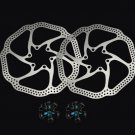 2x MTB Mountain Bike Bicycle Cycling Cleansweep Disc Brake Rotors 160mm 12 Bolts