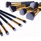 10pcs Makeup Cosmetic Blush Brush Eyebrow Foundation Powder Brushes Kit Set