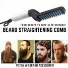 Hair Straightener For Men Multifunctional Curling Electric Brush Beard Comb US