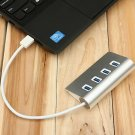 4-Port USB 3.0 Multi HUB Splitter Aluminum Adapter High Speed For PC Laptop Mac