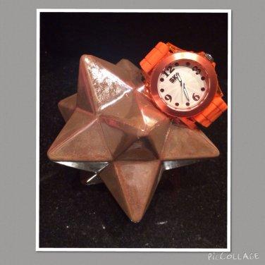 Orange Analogue Watch