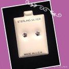 """""""Shining Flower"""" Silver stud earrings"""