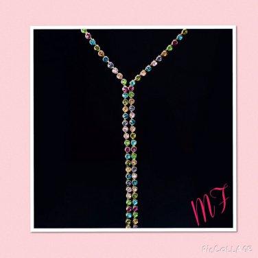 """Rainbow Crystal"" Statement Necklace"