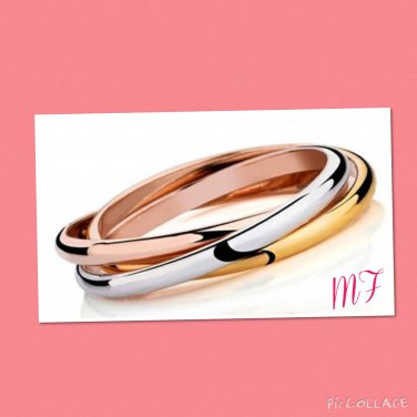 """""""Tricyclics"""" Stainless Steel Bangle"""