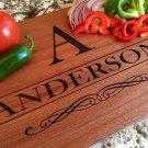 Personalized Beautiful Large Mahogany Cutting Board - Anderson Style