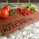 Personalized Beautiful Large Mahogany Cutting Board - Fletcher Style