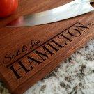Personalized Beautiful Large Mahogany Cutting Board - Hamilton Style