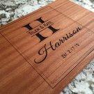 Personalized Beautiful Large Mahogany Cutting Board - Harrison Style