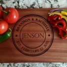 Personalized Beautiful Large Mahogany Cutting Board - Jenson Style