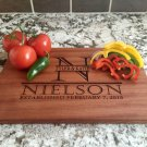 Personalized Beautiful Large Mahogany Cutting Board - Nielson Style