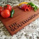 Personalized Beautiful Large Mahogany Cutting Board - Southard Style