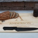 Personalized Cutting Board Chic and Modern 11.5 x 17- Anderson Style