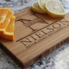 Personalized Cutting Board 6x8 Single-tone Bamboo - Nielson Style
