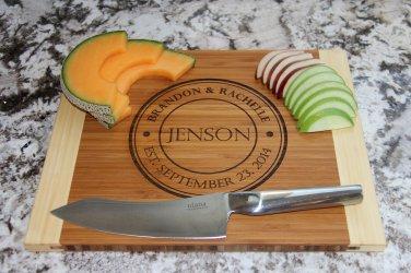 Personalized Cutting Board 11 x 14 Bamboo � Jenson Style