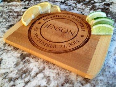 Personalized Cutting Bar Board 6 x 8 Bamboo - Jenson Style