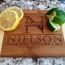 Personalized Cocktail Cutting Board - Nielson Style - Two-Toned Bamboo 6x8