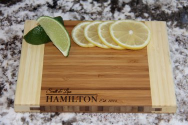 """Personalized Cutting Board 6x8 (3/4"""" thick) - Hamilton Style"""