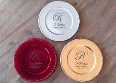 Personalized Decorative Plates - Robertson Style