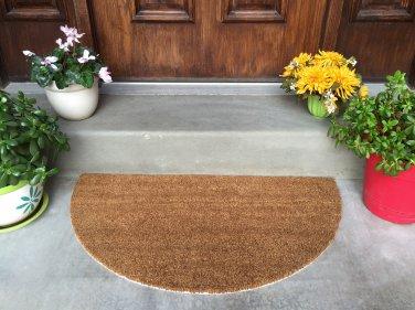 Extra Large Latex-backed 100% Coir Circular Door Mat